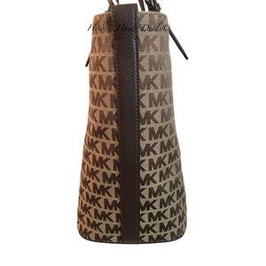 83fe542a50f4db Michael Kors Bags - Michael Kors Beige Java MK Logo Grab Bag Tote